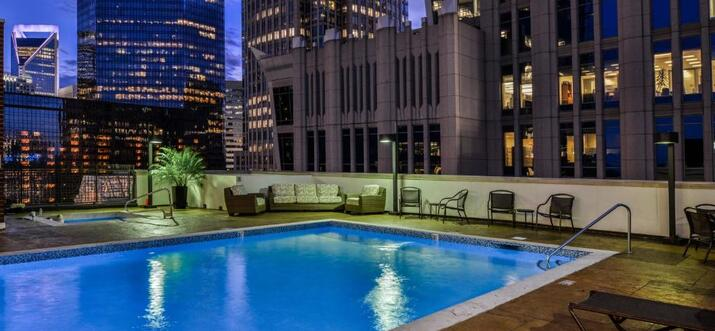 hotels with rooftop pool in charlotte