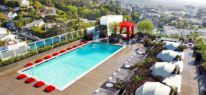 Pool Party In Los Angeles, California, USA