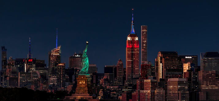 restaurants with view of empire state building