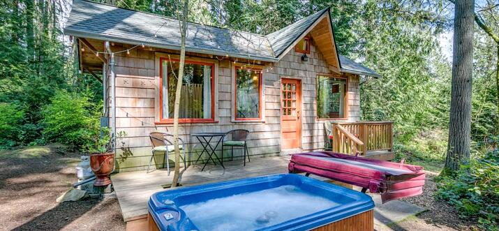 cabins with hot tubs in washington state
