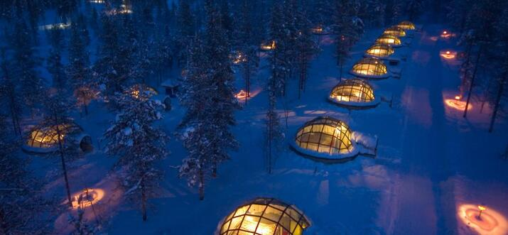 glass igloo lapland