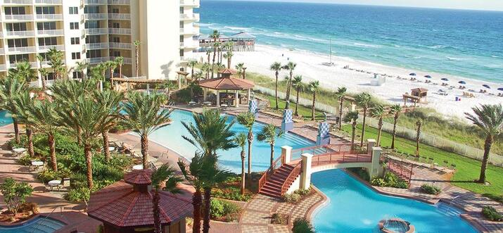 hotel with lazy river in panama city beach florida