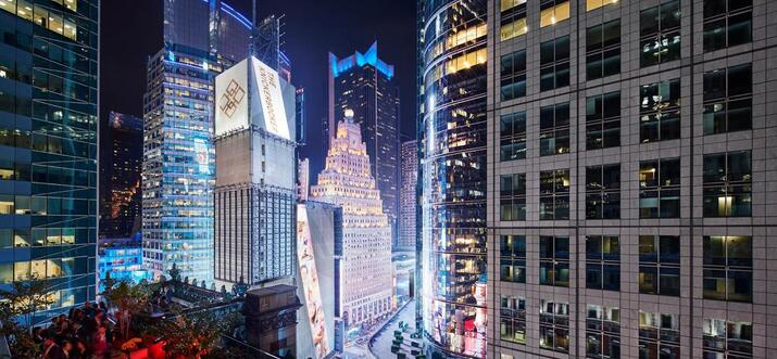 hotels with view of times square ball drop