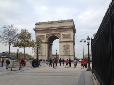Arc de Triomphe from ground level