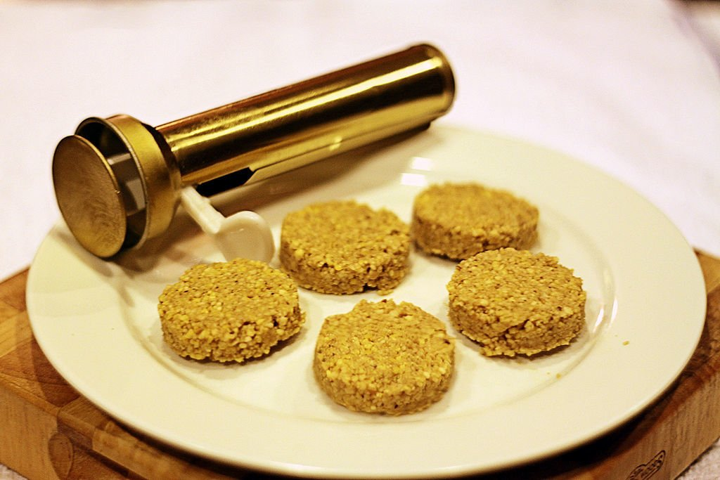 1024px uncooked falafel and falafel press